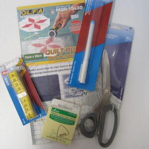 Spelden, meters, clips, naalden, markeren, knippen